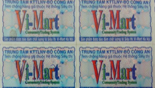 Lễ ký kết với Trung tâm kỹ thuật TLNV – Bộ Công an cung cấp tem chống hàng giả cho các sản phẩm nhãn riêng của Vi-Mart